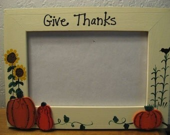Give Thanks - Thanksgiving photo picture frame