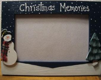 Christmas Memories - Christmas frame Merry Christmas holiday photo family picture frame
