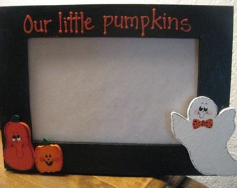 OUR LITTLE PUMPKINS - Halloween photo picture frame