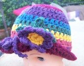 Crochet Baby Hat-Fall Colors