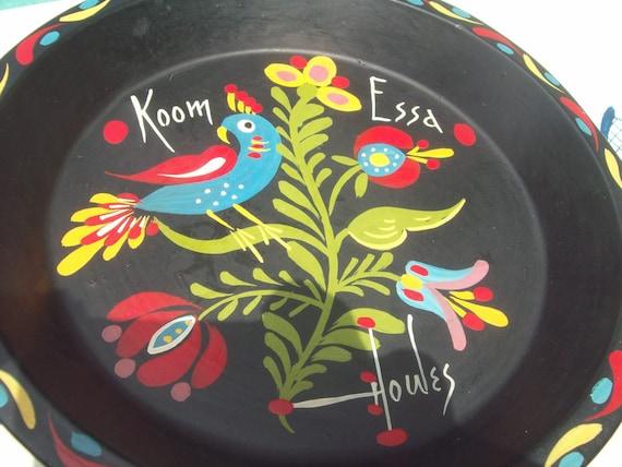 Vintage Hand Painted Metal Pan by Art Howes