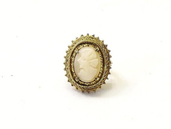 vintage Florenza cameo ring