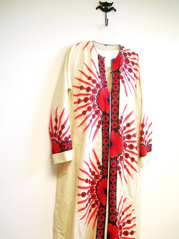 vintage Long Ethnic dress Boho hippie
