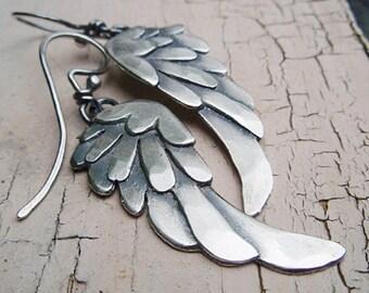 artigiano blackbird wing earrings