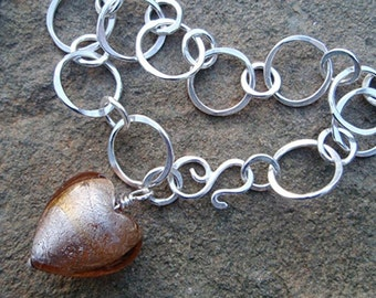 modern classic heart bracelet