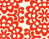 Amy Butler Wall Flower Lotus in Cherry - 1 yard - Back For A LIMITED TIME