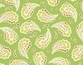 SALE Heather Bailey Freshcut, Dotted Paisley in Green - 1 yard listing