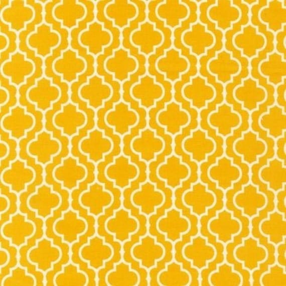 END of Bolt Piece - Robert Kaufman Metro Living Tiles in Marigold - 35 Inches