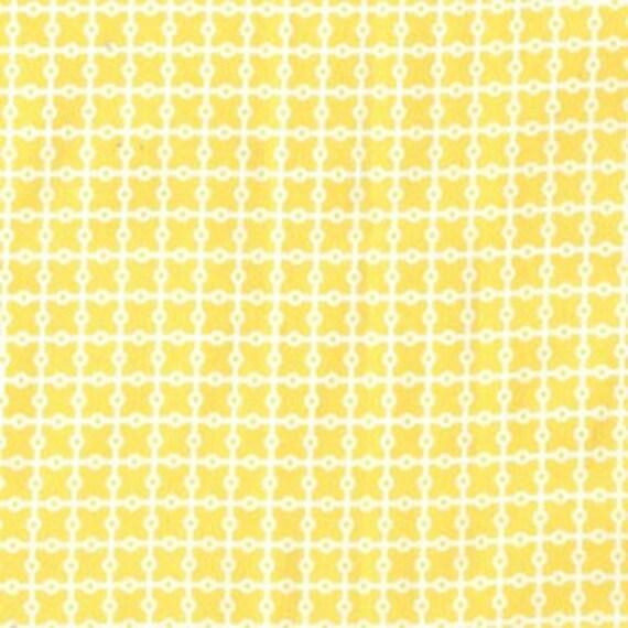 SALE Michael Miller Dottie Grid in Yellow - 1 yard Listing