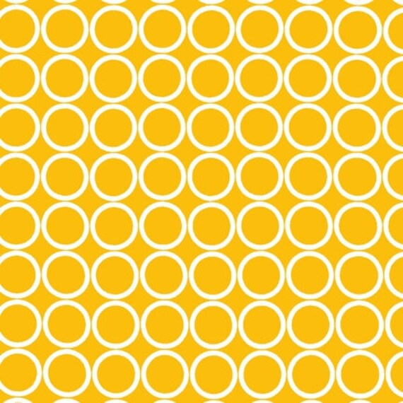 End of Bolt Piece - Robert Kaufman Metro Living Circles in Marigold, 5 inches