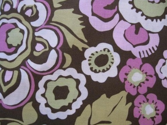 Amy Butler Deco Rose Brown, 1 yard