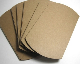 Plain Kraft Pillow Boxes, 3.5x3x1 - Wholesale, Pack of 55