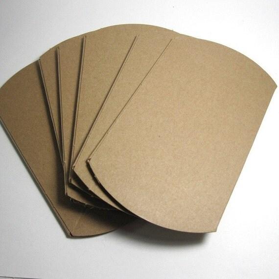 Plain Kraft Pillow Boxes - Wholesale, three dozen (36 boxes)