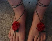 PDF crochet rose beach shoes PATTERN