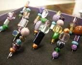 Purple Rain Beaded Corkboard or Bulletin Board Pins