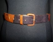 Carma CAMELEON - Vintage 50's or 60's - Multi Colored - CAMELEON - Lizard Skin - Cincher - Belt - size L or XL