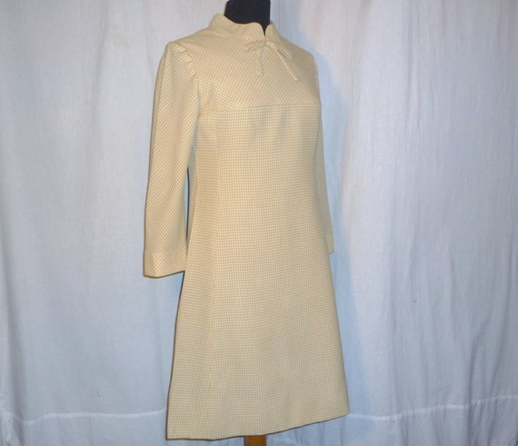 Vintage 60's Stan Newcomb Mad Men Check Dress