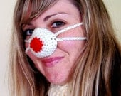 Nose mitten for a cozy nose - unisex - cream and red - cheap worldwide shipping - fun gift idea