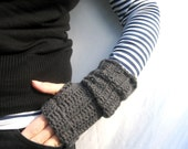 PDF Pattern Long Slouch Fingerless Mittens Crochet