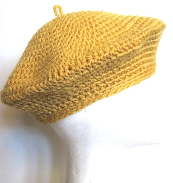 Classic Buttercup Beret  - pure wool