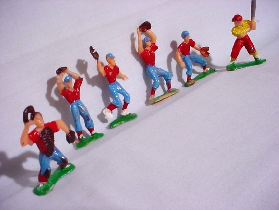 Vintage Baseball Team Players Cake Topper Decorations