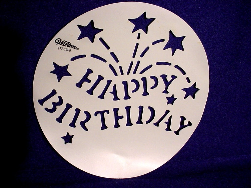 Happy Birthday Stencil For Cake Printable