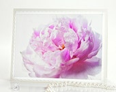 Mothers day cards pink pastel peony photo note card white blank greeting card Easter wedding birthday ivory minimalism, rusteam, tbteam, oht