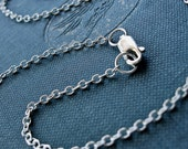 18 Inch Sterling Silver Textured Cable Chain Necklace