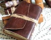 Medieval journal, dark brown leather