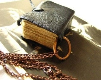 Remembering. Book necklace