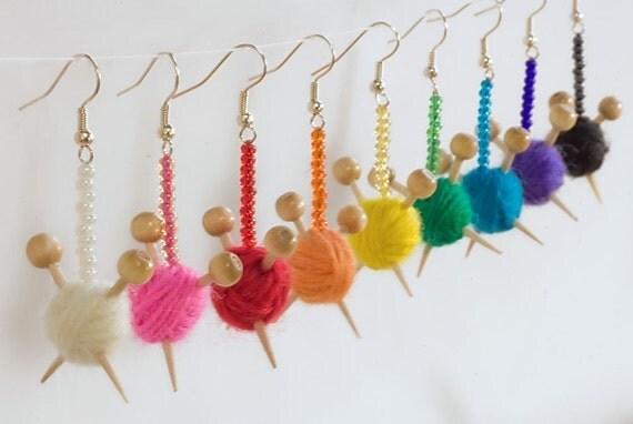Surgical Steel Hooks for Yarn ball earrings - HOOKS ONLY