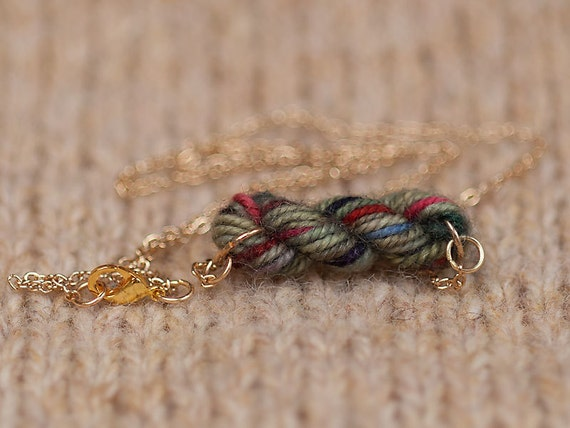 English Countryside Skein of Yarn Necklace