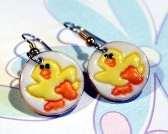 Dangle Duck Earrings for Easter