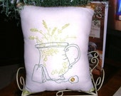 Stitchery Green GardenTea Pillow