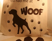Dog Silhouettes - Eco Friendly Canvas Tote Bag - Reusable Grocery Bags