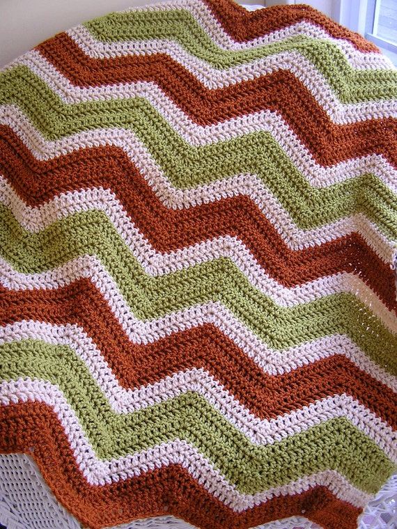 new chevron zig zag baby blanket crochet knit baby afghan lap