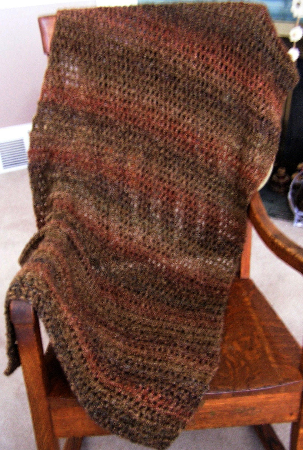 Crochet Scarf Patterns With Homespun Yarn : new shawl wrap afghan prayer chemo lion brand homespun yarn