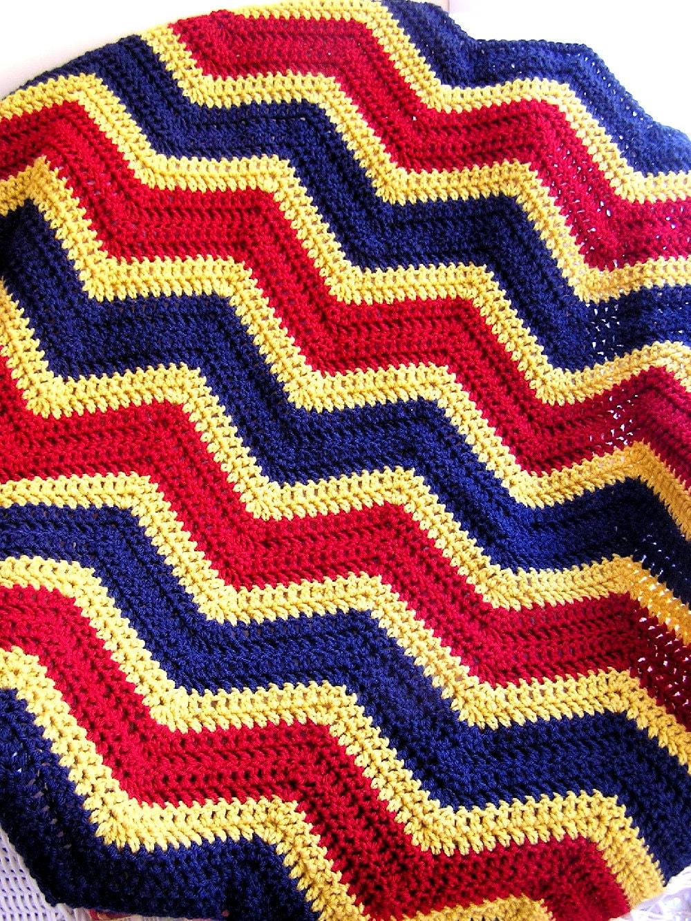 New Chevron Baby Blanket Afghan Crochet Wrap Wheelchair Ripple
