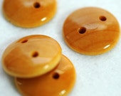 Small Wooden Button Dome 2 hole Plain Jane