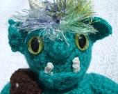 Grumpy Green Troll Mythed Up Crochet Toy