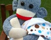 Little Boy Blue Sock Monkey