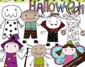 Doodle Halloween Children Collection - Digital Cliparts -COMMERCIAL USE OK
