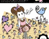 Ballet Girl Cliparts - COMMERCIAL USE OK