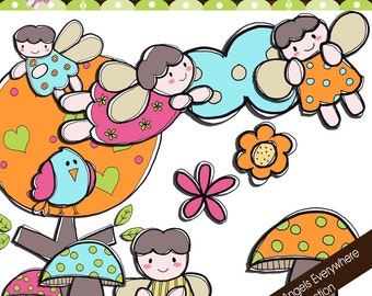 Doodle Angels Everywhere Collection - COMMERCIAL USE OK