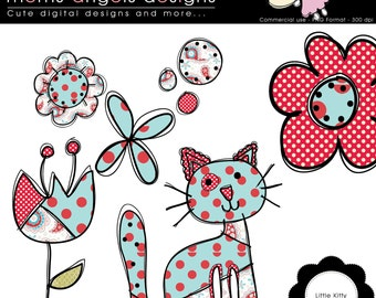 Little Kitty Cliparts - COMMERCIAL USE OK