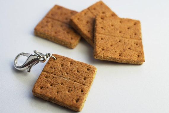 Graham Cracker Charm Miniature Food Jewelry