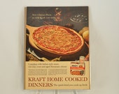 VINTAGE AD - KRAFT Pizza with Cheese Dinner, perfect to decorate your kitchen.