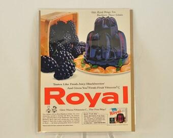 VINTAGE AD - Royal Gelatin Dessert,  perfect to decorate your kitchen.