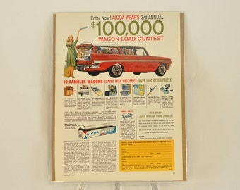VINTAGE AD - Alcoa Wraps Contest,  perfect to decorate your kitchen.