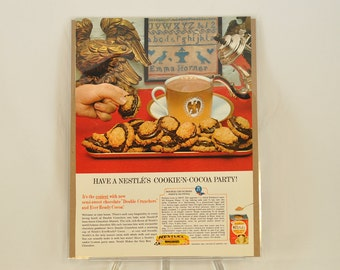 VINTAGE AD - Nestle's Sweet Milk Cocoa with recipe,  perfect to decorate your kitchen.